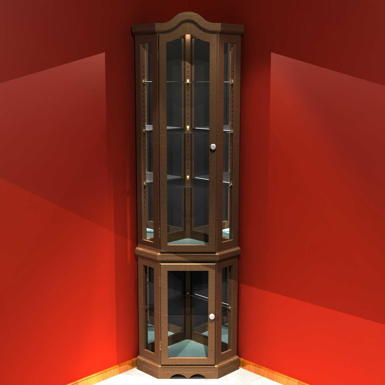 Corner Cabinet With Gl Doors Homesfeed