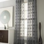 Top to ceiling window curtain with modern patternn