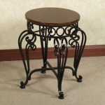 Trendy Black Iron Vanity Stool