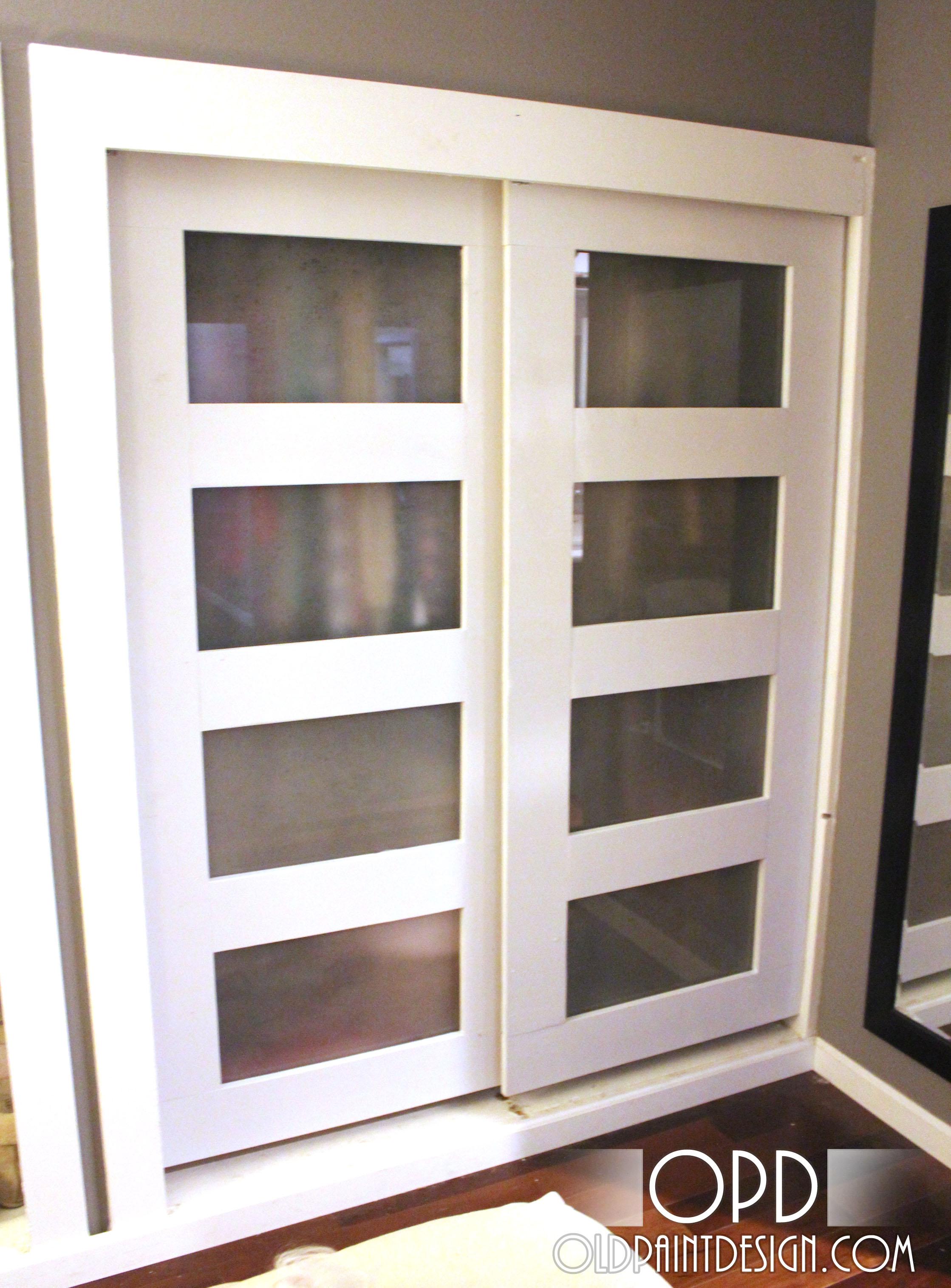 Two Sides Of Closet Sliding Door