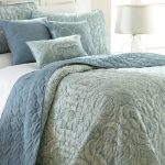 Two side light blue duvet cover in large size a modern bed furniture with grey headboard idea white bedside table with shelf underneath