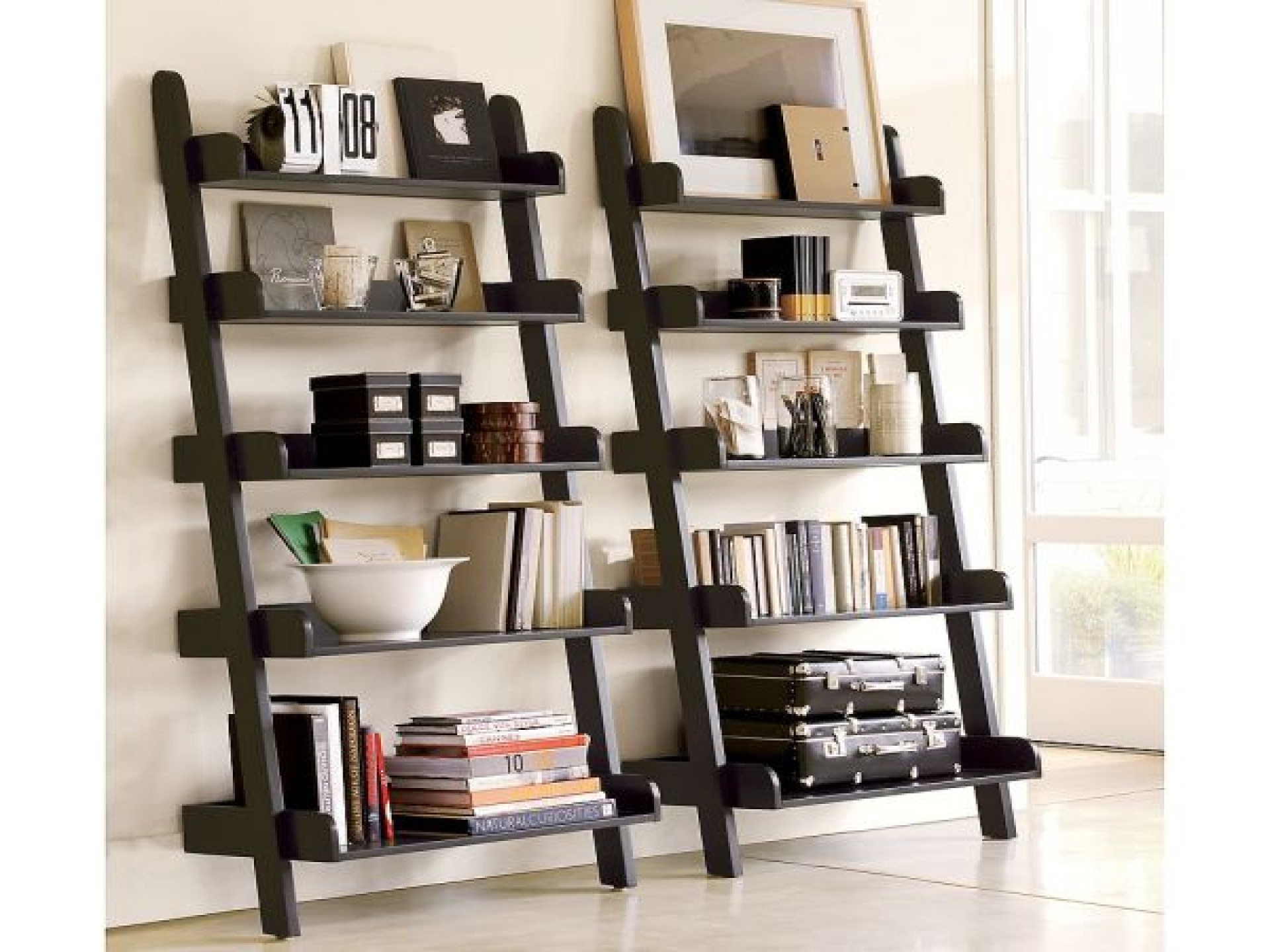 Leaning Ladder Bookcase - HomesFeed