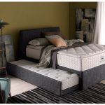 Velvet pull out bed design in grey color