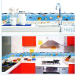 Wall Sticker Removable With Fish And Ocean Design In Kitchen
