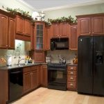 Wall And Base Kitchen Clearance Made From Wood A Black Refrigerator Appliance Some Electric Kitchen Appliances