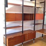 Wall mounted wooden shelving idea wooden cabinets  and wooden desk