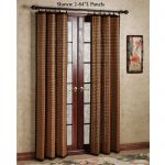 Water Resistant Outdoor Bamboo Curtains For Wooden Door Panels In Warm Room With Pretty Rug