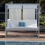 White And Blue Pool Cabana