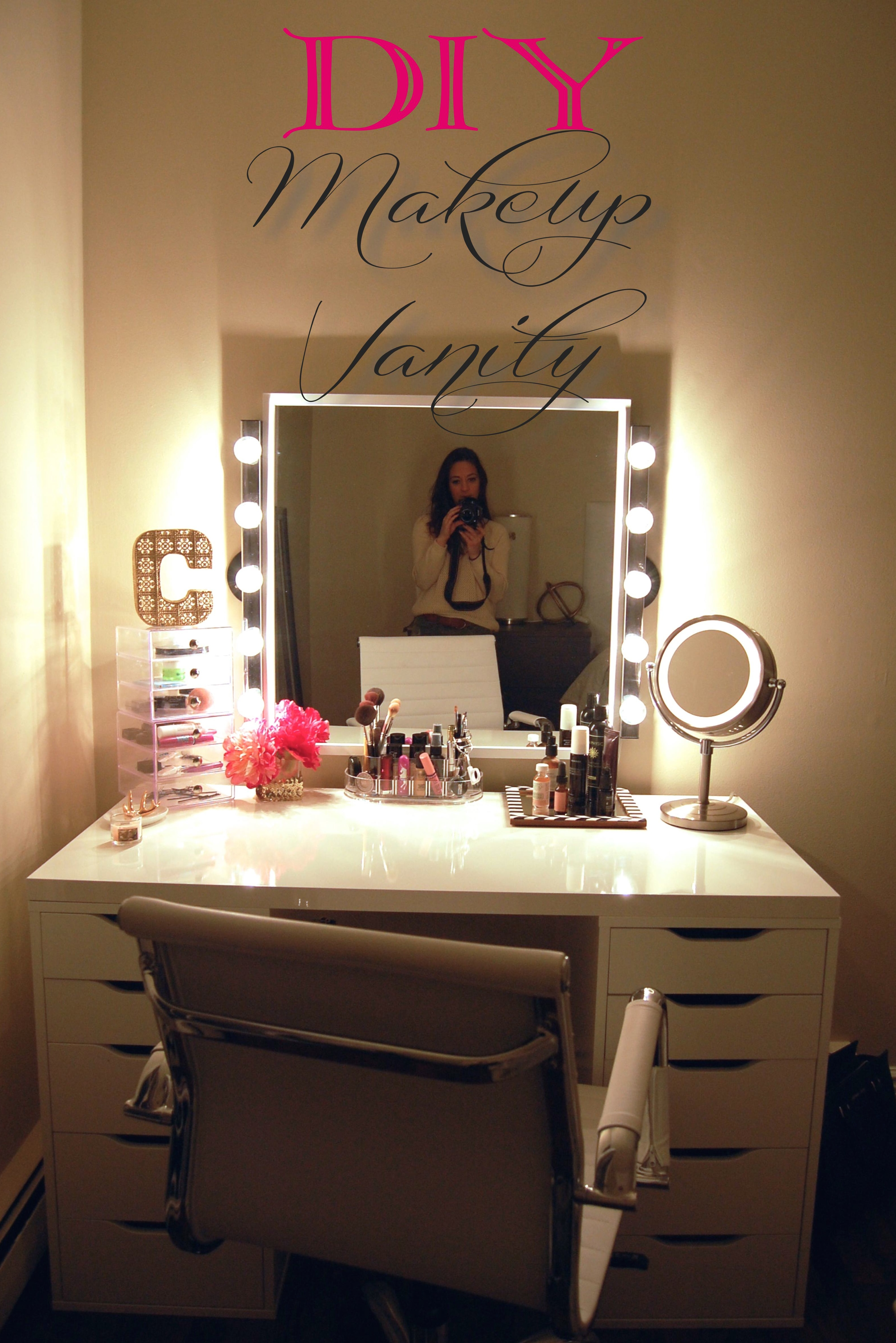 Makeup Vanity Table With Lights Homesfeed