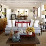 White Spanish Living Room Design With Grey Sofa Pretty Piilows And Square Wooden Old Style Table