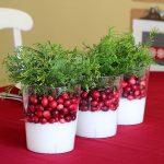 Winter cranberry as Christmas centerpiece