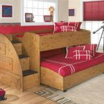 Wonderful wood bunk idea with stairs and built in storage system a modern bedroom carpet