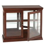 Wooden Mounted Cabinet With Two Glass Door