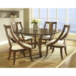Wooden Square Dining Room Table With 4 Chairs And Warm RUg