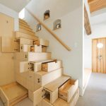 Wooden Stairs With Storage Place Multifunctional Furniture For Saving Space