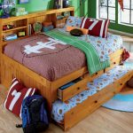 Wooden trundle with storage and pull out bed round colorful bedroom rug