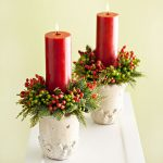 Wreath candle holders