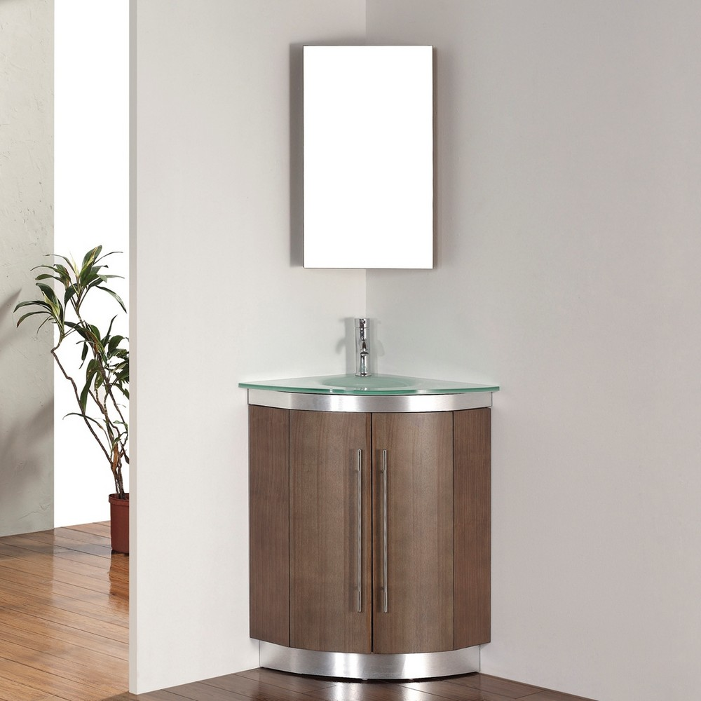 corner vanity set - solution for small space - homesfeed