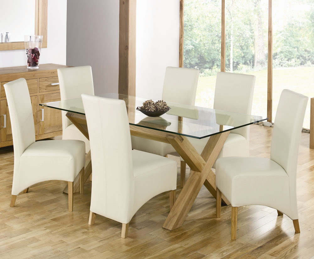 Gl Dining Table With Wooden Legs Room Ideas