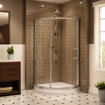 amazing bathroom ideas for small space with cool corner shower units and brick pattern tiling floor plus amazing bathroom tile plus modern vanity units