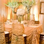 amazing dining room decorating ideas in golden scheme with old hollywood glamour decor plus awesome dining table centerpiece and lighting
