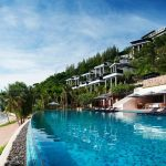 amazing mountain resort design with super large swimming pool and beach and comfortable hub