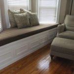 amazing window seats with storage for bay windows with dark upholstery and comfy cushion together with comfy chair and ottoman plus dark solid wood floor