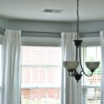amusing curtain rods for bay windows with white drapes for beautiful home decorating ideas