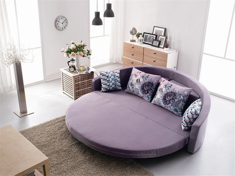 Bedroom Interior With Round Bed