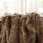 brown faux fur blanket queen for home decor