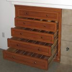 built in wooden cd storage drawers with 5 wide drawers