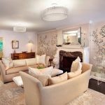 cherry-blossom-tree-wallpaper-for-elegant-living-room-with-white-color-theme-with-soft-beige-sofas-and-cushion-also-brown-floor
