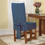 cotton slip cover for chair in mesmerizing blue scheme decorated in dining room with wooden table and attractive rug decoration plus white drapes in window