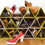 creative-cool-and-fancy-shoe-racks-DIY-shoe-racks-with-yellow-and-white-color-design-on-wooden-floor