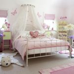 cute-princess-bedroom-themed-with-pinky-color-and-canopy-bed-also-pink-carpet-on-the-soft-grey-floor-and-dresser-in-the-corner