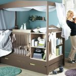 cute-sweet-and-nice-baby-girl-bedroom-with-mocha-color-of-the-crib-with-canopy-and-medium-aquamarine-for-the-wall