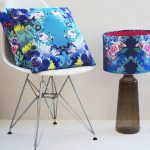 digital turquoise velvet fabric cushions idea on white vintage chair idea with turquoise shaded floor lamp