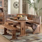 dining furniture made from solid wood with wooden bench