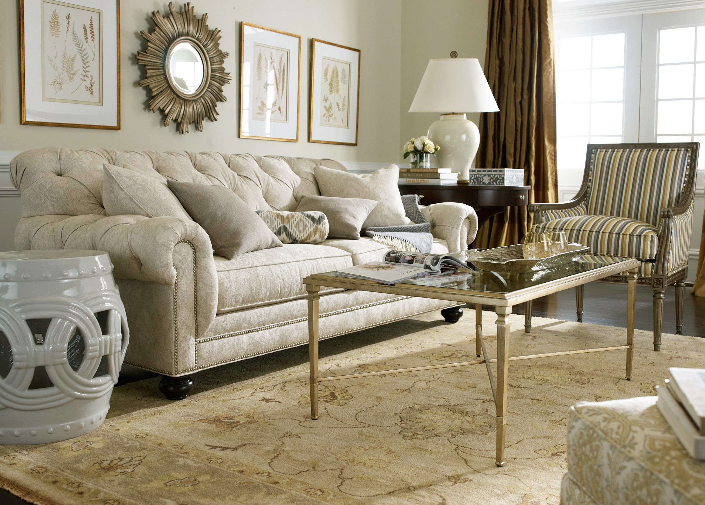 Ethan allen leather furniture for charming and comfortable for Ethan allen furniture