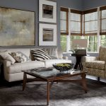Ethan Allen Leather Furniture In Effortless Living Room Ideas With White Loveseat Couch And Comfy Armchair And Wooden Table With Glass Top And Grey Area Rug