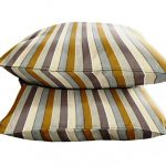 fall style target outdoor cushion idea with stripe pattern in white gray and yellow color combination