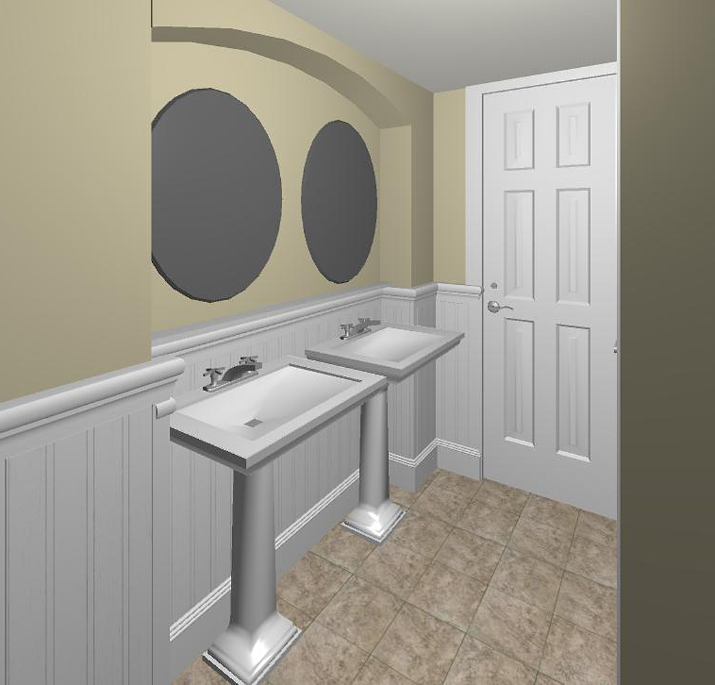 Bathroom With Beadboard – Classic Style