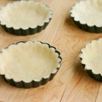 lovable black curly modern mini pie pans idea on wooden table with curly edge