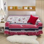 lovable red and white couch cover for sectional idea with animal print and polka dot pattern aside cool table lamp