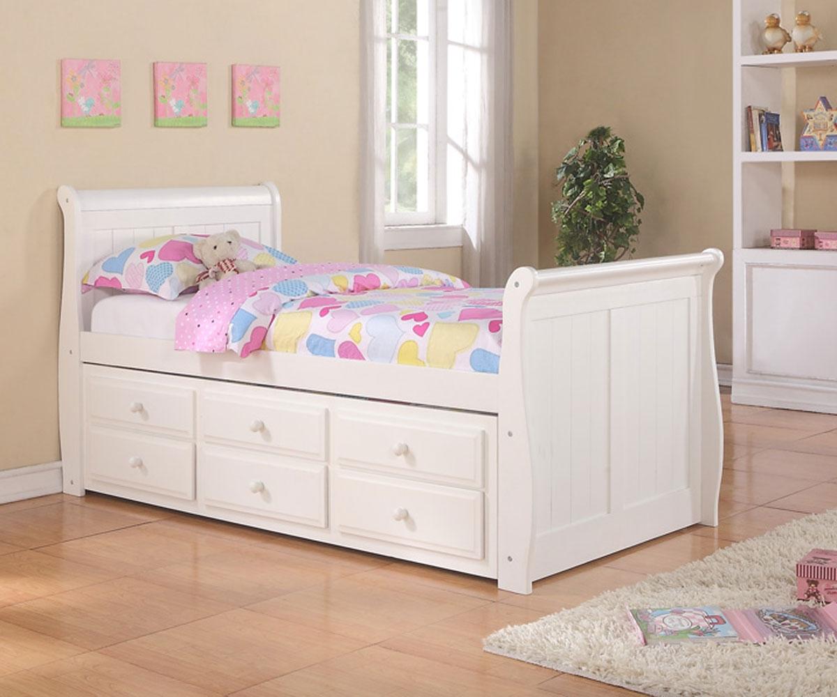 Pop Up Trundle Bed Frame Nice Accent For Playful Bedroom