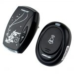 mini black decorative wireless doorbell for stylish and simple home decor