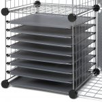 modern and super firm black wire scrapbook organizer idea with wheels and racks