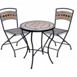modern ikea bistro set for outdoor use consiting of a round coffee table and two folding chairs