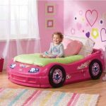 pink-car-toddler-bed-for-little-girl-in-pinky-color-with-pink-wall-and-pink-trash-can-and-white-window-also-wooden-floor