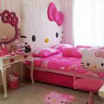 pink-hello-kitty-bedroom-with-hello-kitty-wall-mirror-on-stripped-pink-wall-and-white-dressing-table-and-pink-hello-kitty-chair-also-little-pink-hello-kitty-trash-can